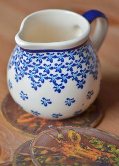 Hand painted pottery MILK/ CREAM JUG 0.3l
