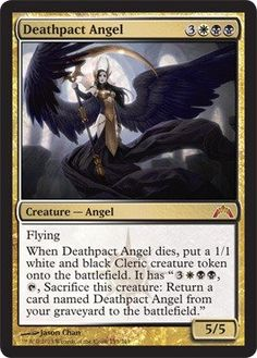 Magic: the Gathering - Deathpact Angel - Gatecrash: A single individual card from the Magic: the Gathering (MTG) trading and collectible card game (TCG/CCG). This is of Mythic Rare rarity. From the Gatecrash set. Galaxy Saga, Magic The Gathering Karten, Eldritch Moon, Angel Flying, Mtg Decks, Mtg Altered Art, Mtg Art, Digital Art Gallery, Thing 1