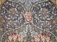 Printed Linen - Honeysuckle (1896) by William Morris. Original from The Birmingham Museum. Digitally enhanced by rawpixel. | free image by rawpixel.com William Morris Wallpaper, Morris Wallpapers, Flower Images, Flower Pictures, Birmingham Museum, Video Backdrops, Pattern Pictures, Printed Linen, Free Illustrations