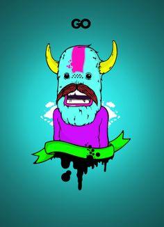 """Monsteeth"", por Danilo Innocente (GO) #Illustration #Character #Design #Argentina"