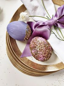 greige: interior design ideas and inspiration for the transitional home : at the table: Easter in lavender and gold