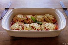 Simple Eggplant Parm (Vegan) by Give Love Create Happiness