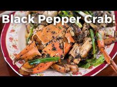 Insanely Delicious Thai Black Pepper Crab! ปูผัดพริกไทยดำ