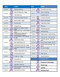 2013 Relay For Life of Sterling Heights, Michigan Entertainment Schedule