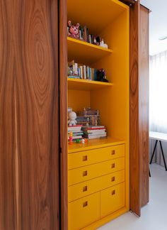 yellow inside #decor #marcenaria #amarelo #cabinets
