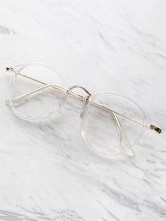 Transparency. Shop for Shein Transparent Frame Metal Top Bar Glasses on ShopStyle.com