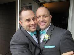 Mark and Jereme, lovingly married at The Salish Lodge, Snoqualmie, WA.  Officiant:  Annemarie Juhlian. Photo:  John  Crozier