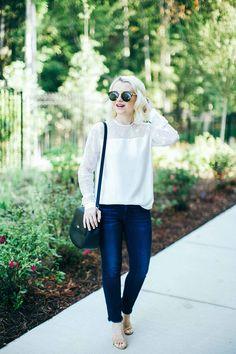Poor Little It Girl - White Lace Top - @poorlilitgirl