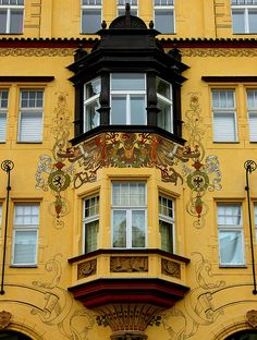 Art Nouveau facades in Prague