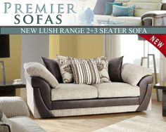 Sofa Cover Details about LUSH SOFA FABRIC SEATER SUITE SCATTER BACK CUSHIONS IN MINK BROWN GREY