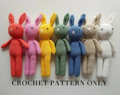 Bunny Rabbit Crochet Pattern - Amigurumi Rabbit Pattern - PDF File only, NOT Finished Product