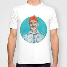 Steve Zissou T-shirt by Balazs Pakozdi - $18.00