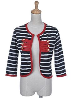 TOPSELLER! Anna-Kaci S/M Fit Black White Stripe Michael Jackson-Influenced Official Jacket $10.00