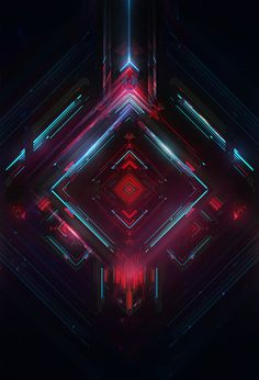 Android N Wallpaper android Web Design, Graphic Design, Fractal Art, Fractals, Arte Cyberpunk, Retro Waves, Neon, 3d Prints, Geometric Art