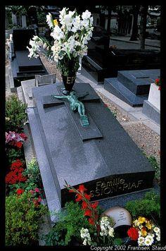 Grave Marker- Edith Piaf, Pere Lachaise, Paris, France
