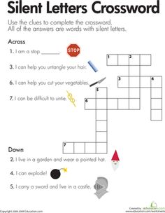Printables Second Grade Phonics Worksheets phonics worksheets words and on pinterest second grade silent letters crossword
