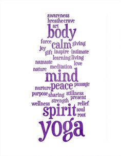 Yoga Words - 8x10 Photo Print in our Etsy shop