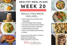 Healthy, low carb, and vegetarian meal plan - Week 20!