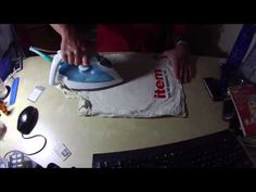 ▶ Laminating without a laminator - YouTube  Use an iron!