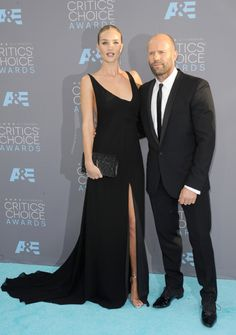 Rosie Huntington-Whiteley and Jason Statham attend the 2016 Critics Choice Awards