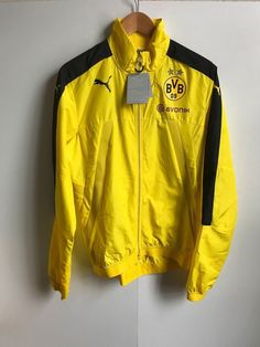 Details about Borussia Dortmund Puma Men s BVB Vent Jacket - Medium (M) -  Yellow - New 63758b5aecb3