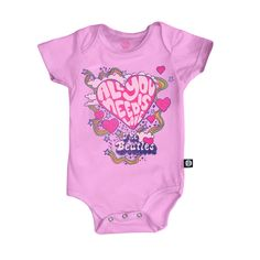 Body Infantil The Beatles All You Need Is Love #thebeatlesshop #beatles #beatleshop #thebeatles #baby #babyrock