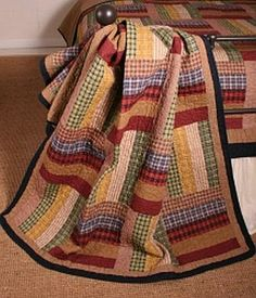 Six Bars Throw Quilted/ Like us on Facebook!  https://www.facebook.com/AllysonsPlaceDecor / #Primitive #country #Cabin