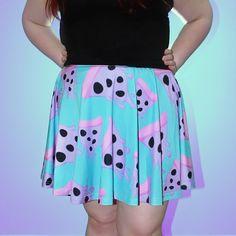 Mutant Pizza Skater Skirt by starryeyedbowtique on Etsy