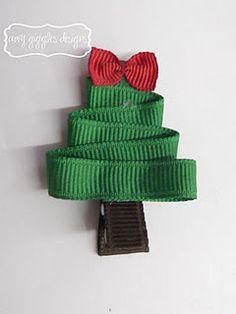 easy ribbon tree pin...