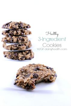 This recipe is so easy and flexible you will want to keep it on hand. These Healthy 3 Ingredient Cookies can be used for breakfast, a snack or dessert.