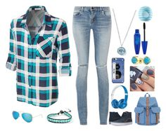 """Everything is blue~"" by weredragon360 ❤ liked on Polyvore featuring Vans, Yves Saint Laurent, Beats by Dr. Dre, Ray-Ban, Chan Luu, Herschel Supply Co., Kate Spade, Ippolita, Bling Jewelry and Eos"