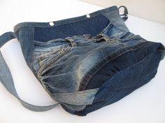 Cool jeans bag cat III denim bag upcycled bag shoulder bag   Etsy Recycle Jeans, Upcycle, Denim Shoulder Bags, Denim Bag, Jeans Pants, Zipper, Cross Body, Cool Stuff, Cats