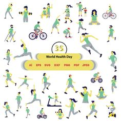 35 world health day svg svg bundle world health day world | Etsy World Health Day, Dress Making Patterns, Art File, Graphic Design Inspiration, Silhouette Studio, Invitation Design, Cricut Design, Vinyl Decals, Card Making