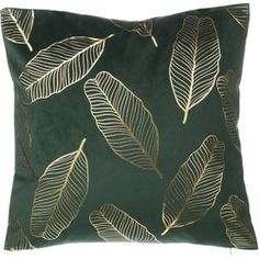 Velvet Cushion Metallic Leaf Pattern 45 x 45 cm Velvet Armchair, Velvet Cushions, Printed Cushions, Decorative Cushions, Wallace Cotton, Mulberry Home, Family Room Furniture, Uni Room, Hill Interiors