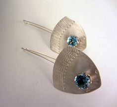 Large Faceted Swiss Blue Topaz Sterling Silver by bethwicker, $164.00