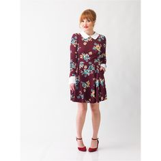 f8949155905 The New A List Dress in Maroon + Floral – Smak Parlour Boutique White  Floral Dress