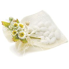 Cream Colored Natural Tied Mini Bouquet