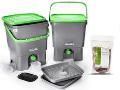 Bokashi Organico 2 Large Waste Bins with active Bran Indoor Composter - no Odour Faire Son Compost, Starter Set, Growing Plants, Keurig, Kos, Organic Gardening, Kitchen Remodel, Home And Garden, Gardens