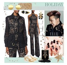 """""""Holiday Style: Halter-Neck Lace Jumpsuit"""" by yours-styling-best-friend ❤ liked on Polyvore featuring ill.i Optics, Alexis, King Ice, Tory Burch, CC SKYE, Atlantic Stars, Mykita and Cara"""