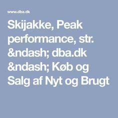 Skijakke, Peak performance, str. – dba.dk – Køb og Salg af Nyt og Brugt