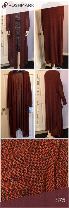 LuLaRoe Black & Rust Colored Sarah LuLaRoe Black & Rust Colored Sarah Rare & Hard to Find Perfect for Fall  Brand New with Tags Attached  Medium Weight  2 Front Pockets  Must have for Fall! LuLaRoe Sweaters