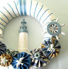 Nautical Yarn Wreath