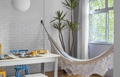 Casa.com.br Outdoor Furniture, Outdoor Decor, Hammock, Home Decor, Decorating Tips, Renovation, Home, Homemade Home Decor, Hammocks