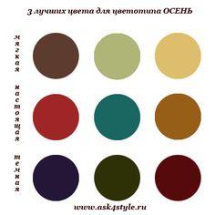 лучшие цвета для цветотипа Осень