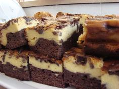 Brownie & cheesecake combined into one delicious slice. Perfect.