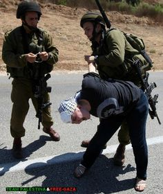 Free Palestine.... In America, this would be brutality. For Palestinians, this is the norm.