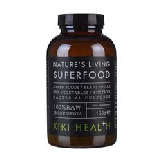 Kiki Health Natures Living  is designed to support your daily nutritional needs as it is made exclusively from plant-based, whole food ingredients with probiotics and enzymes, all of which assist in allowing the body to absorb the nutrients it needs and support digestive health