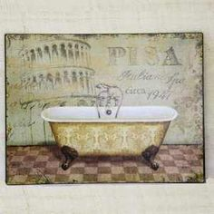 1000 images about decoration retro on pinterest for Plaque murale salle de bain