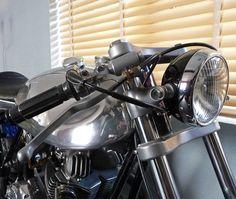 Ed Norton Commando Cafe Racer by Kim Boyle ~ Return of the Cafe Racers