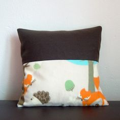 Kissenbezüge - Kissenhülle Fleece Waldtiere Fuchs Igel - ein Designerstück von MiMaKaefer bei DaWanda